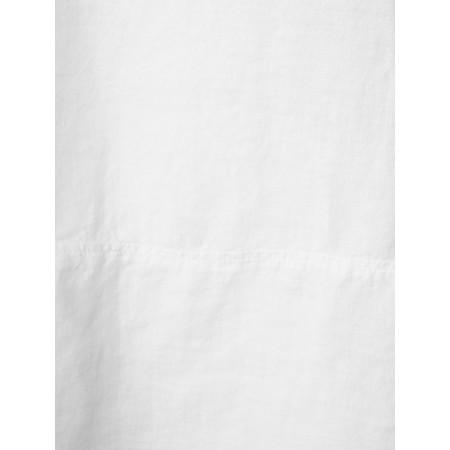 Sahara Chambray  Linen Step Hem Top - White
