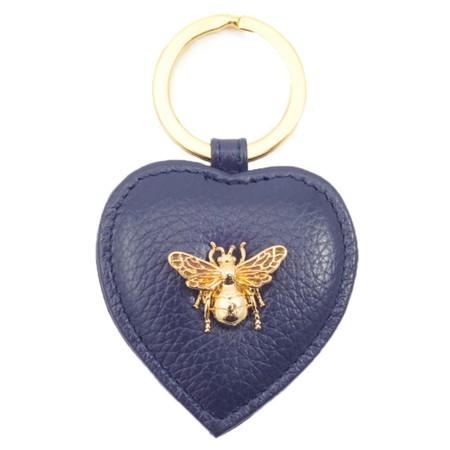 Bill Skinner Bumble Bee Heart Keyring - Blue
