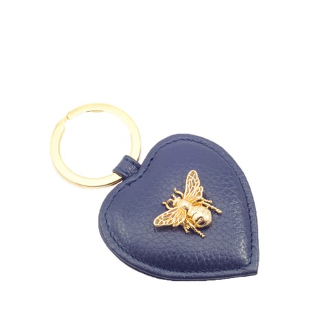 Bill Skinner Bumble Bee Heart Keyring - Blue