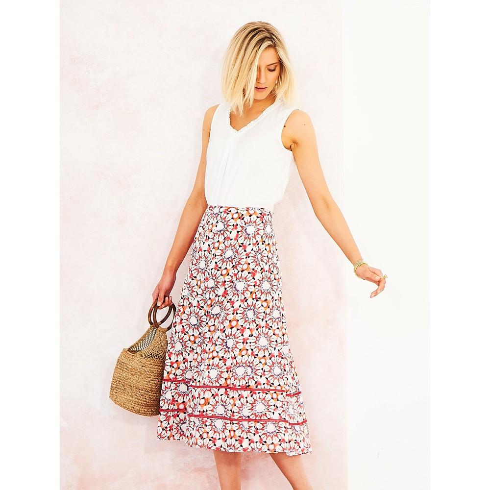 Adini Marsha Skirt Red Clay