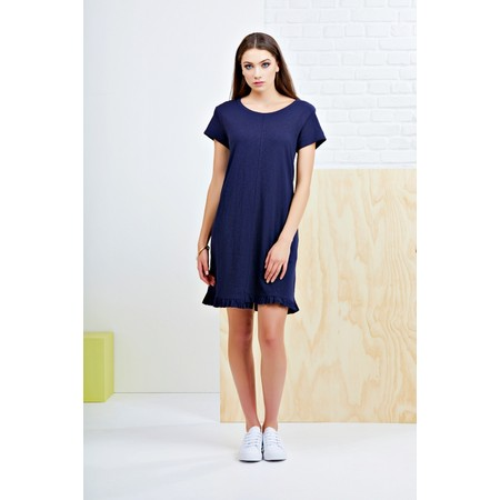 Foil The Frill Of It All Tee Dress - Blue