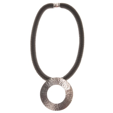 Strata Electra Short Necklace - Grey
