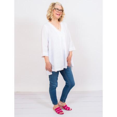Mes Soeurs et Moi Ariege Linen Tunic Top - White