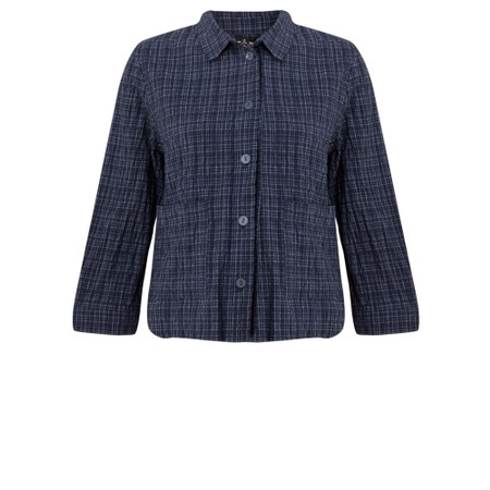 Mes Soeurs et Moi Etude Denim Jacket with Pockets - Blue