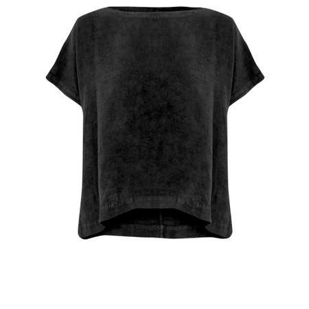 Mes Soeurs et Moi Artisan Arachon Linen Cap Sleeve Top  - Black