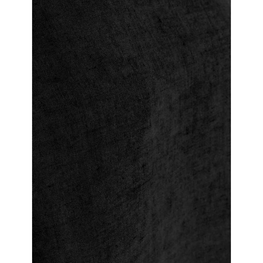 Mes Soeurs et Moi Artisan Arachon Linen Cap Sleeve Top  Noir Black