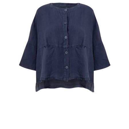 Mes Soeurs et Moi Aruba Arachon Linen Button Front Top - Blue