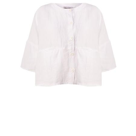 Mes Soeurs et Moi Aruba Arachon Linen Button Front Top - White