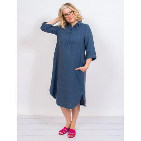 Mes Soeurs et Moi Ardeche Arachon Linen Shirt Dress - Blue