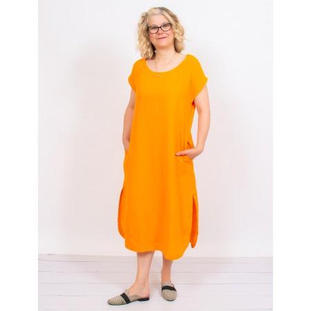 Mes Soeurs et Moi Arfi Arachon Linen Shift dress - Orange