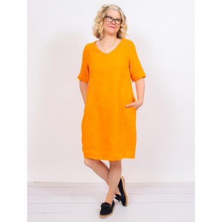 Mes Soeurs et Moi Arolla Arachon Linen Dress  - Orange