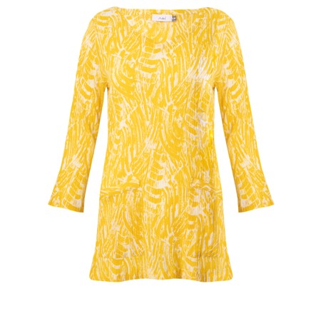 Adini Brushstroke Print Codi Top - Yellow
