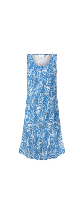 Adini Brush Stroke Print Marnie Dress Marine