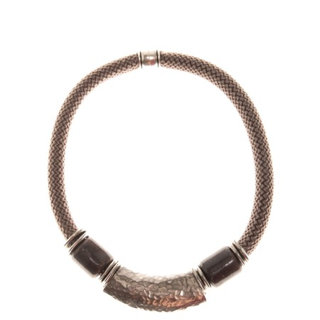 Strata Capricorn Short Necklace - Metallic