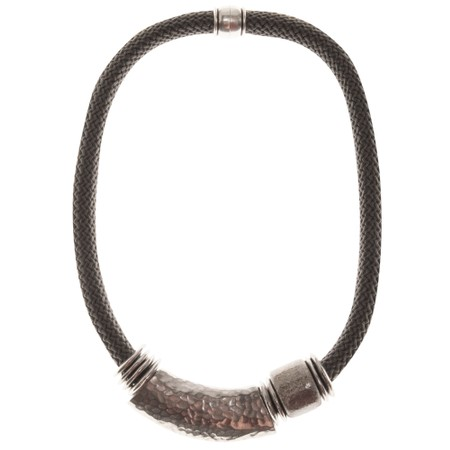 Strata Capricorn Short Necklace - Grey