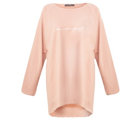 Chalk Robyn Be Happy Top  - Pink