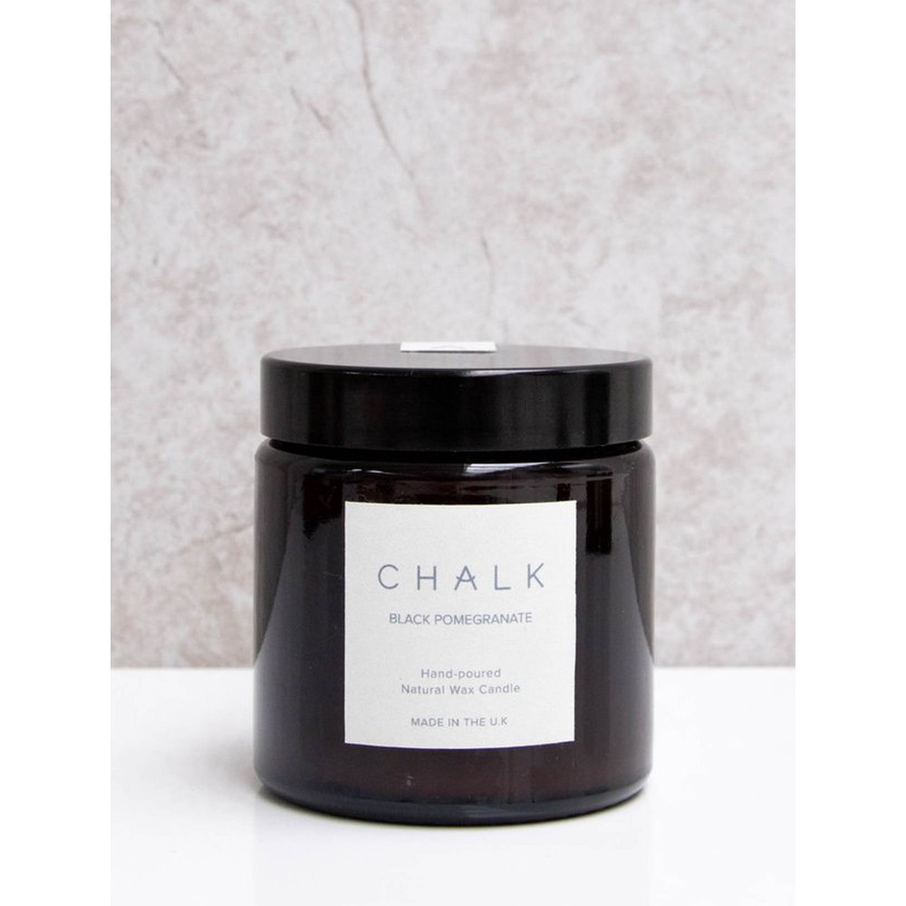 Chalk Home Black Pomegranite Amber Apothecary Small Candle Jar Black Pomegranate