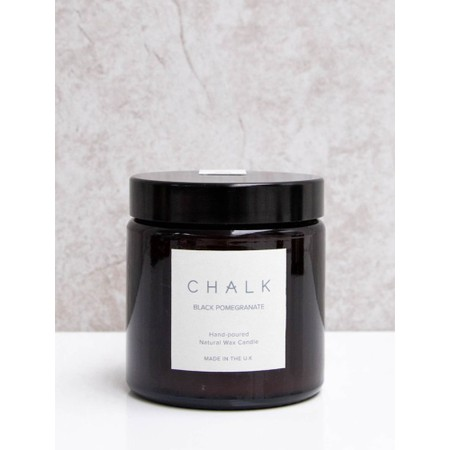 Chalk Home Black Pomegranite Amber Apothecary Candle Jar - Black
