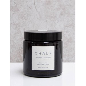 Chalk Home Lavender and Geranium Amber Apothecary Small Candle Jar