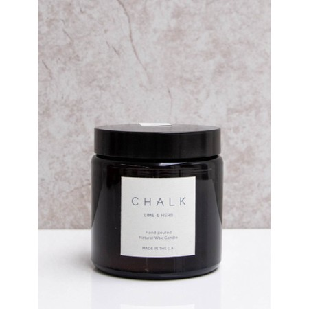 Chalk Home Lime and Herb Amber Apothecary Small Candle Jar - Green