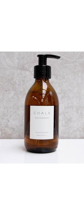Chalk Home Black Pomegranite Amber Apothocary Hand Wash Pump Black Pomegranate
