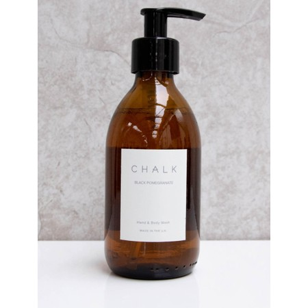 Chalk Home Black Pomegranite Amber Apothocary Hand Wash Pump - Black