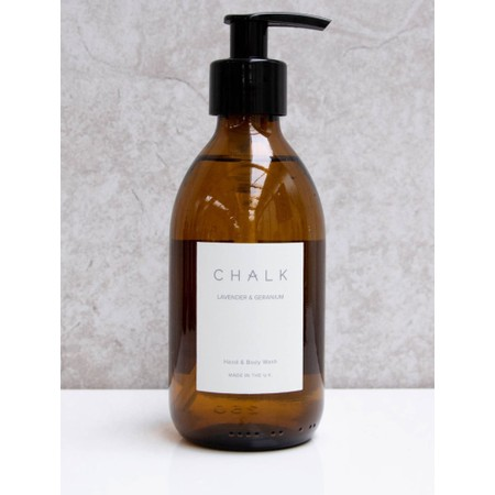 Chalk Home Lavender and Geranium Amber Apothocary Hand Wash Pump - Purple
