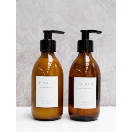 Chalk Home Black Pomegranite Amber Apothecary Hand Lotion Pump - Black