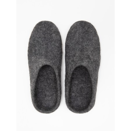 Chalk Home Bella Felt Wool Slipper  - Black