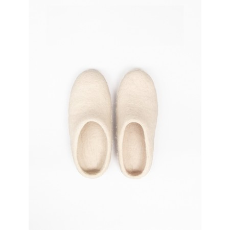 Chalk Home Bella Felt Wool Slipper  - Beige