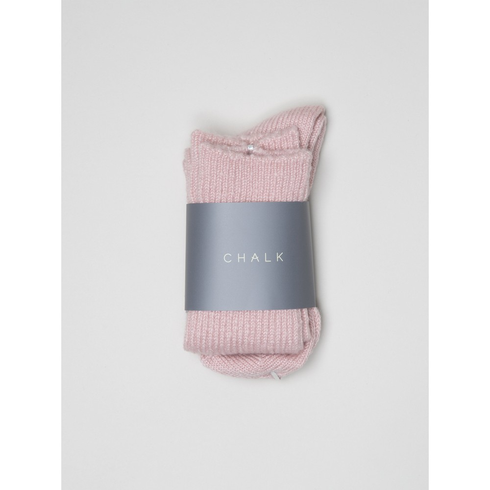 Chalk Cosy Supersoft Knit Socks Pink