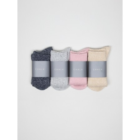 Chalk Cosy Supersoft Knit Socks - Metallic