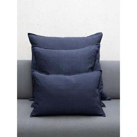 Chalk Home Ramie & Natural Fibre Oblong Cushion with Cushion Pad  - Blue