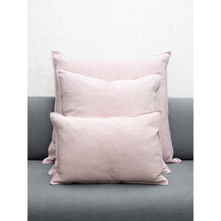 Chalk Home Ramie & Natural Fibre Oblong Cushion with Cushion Pad  - Pink