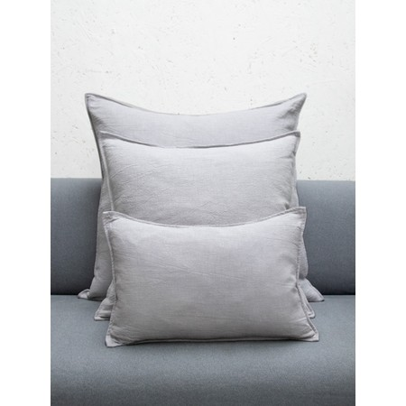 Chalk Home Ramie & Natural Fibre Oblong Cushion with Cushion Pad  - White