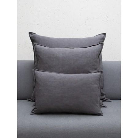 Chalk Home Ramie & Natural Fibre Square Cushion with Cushion Pad  - Grey