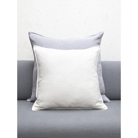 Chalk Home Ramie & Natural Fibre Square Cushion with Cushion Pad  - White