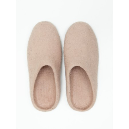 Chalk Home Bella Felt Wool Slipper  - Pink