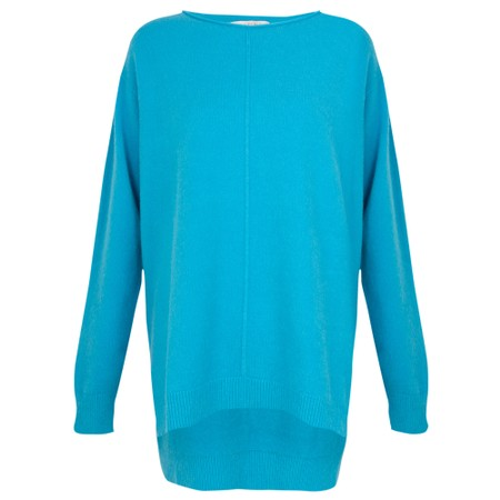 Amazing Woman  Maggie Seam Front Supersoft Jumper - Turquoise