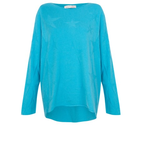 Amazing Woman  Hidden Star Supersoft Easyfit Jumper - Turquoise