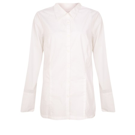Amazing Woman  Micha Long Classic Shirt with Cuff Detail - White