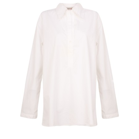 Amazing Woman  Erica Classic Grandad Shirt - White