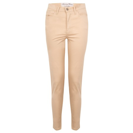 Amazing Woman  Moonlite 12 Superstretch Skinny Fit Ankle Grabber - Beige