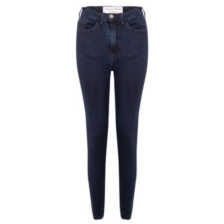 Amazing Woman  Moonlite 12 Superstretch Skinnyfit Ankle Grabber Jean  - Blue