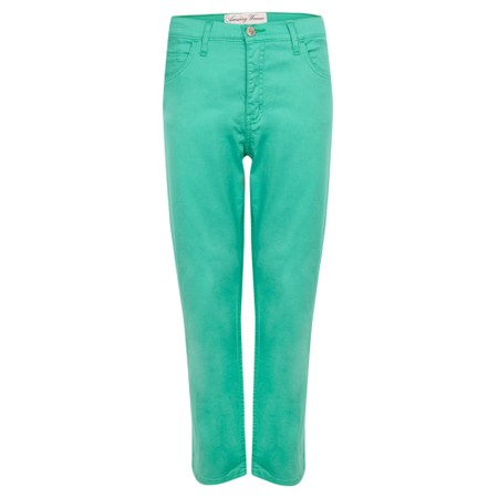 Amazing Woman  Moonlite 04 Superstretch Slimfit 3QTR Trouser - Green