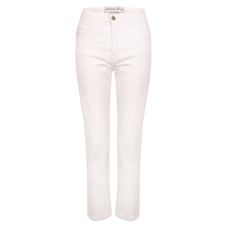 Amazing Woman  Moonlite 04 Superstretch Slimfit 3QTR Trouser - White