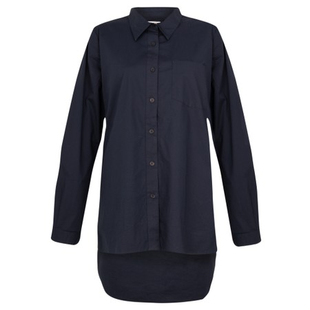 Amazing Woman  Lina Long Back Classic Shirt - Blue