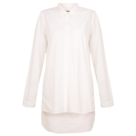 Amazing Woman  Lina Long Back Classic Shirt - White