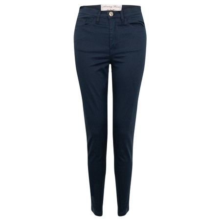 Amazing Woman  Moonlite 12 Superstretch Cotton Skinny Fit Trousers - Blue