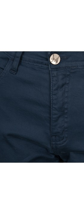 Amazing Woman  Moonlite 09 Superstretch Slimfit Crop Trouser Navy
